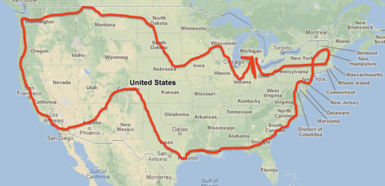 We spent three months traveling (roughly) clockwise around the U.S.