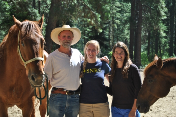 The road trippers with Ross Frank, a rancher and forest manager in Leavenworth, Washington. We met with people from many different walks of life on our road trip.