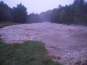 "This photo is labeled ""the flood that took the farm"" on Evening Song's Facebook page."