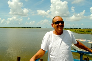 Charlie Broussard, a shrimper in Cocodrie, Lousiana, has seen the coastline change dramatically in his lifetime.