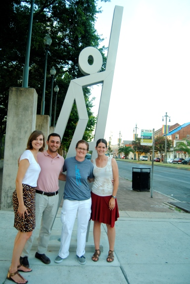 From left: Joy Bruce, David Morris, and Jenny Calzada of Evacuteer with adaptation road tripper Allie Goldstein.