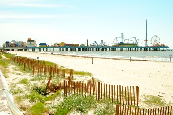The 'Pleasure Pier' amusement park was built after Hurricane Ike. It might be in trouble during the next hurricane.