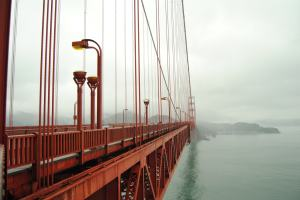 The iconic Golden Gate bridge in San Francisco.