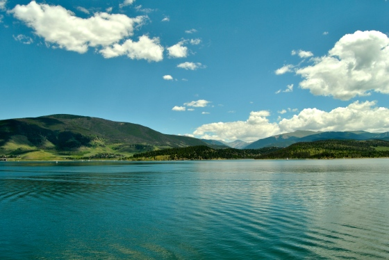 Looking out over the Dillon Reservoir in Colorado.