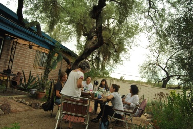 Laurie Melrood holds mesquite workshops at her home in Tucson, teaching the history and practical uses of the plant