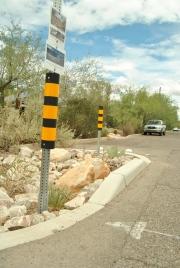 A curb cutout