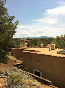 Our adobe Airbnb abode in Santa Fe, New Mexico is made from clay/mud and heats/cools itself.