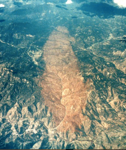 The Buffalo Creek Fire scar. Source: Denver Water, Don Kennedy
