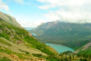 On the hike up to Grinnell Glacier