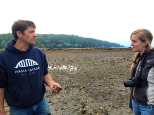 Adam James tells road tripper Kirsten Howard about how his family's oyster farm has changed its practices.