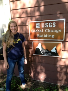 Kirsten at the USGS Global Change Center in Glacier  National Park, MT.