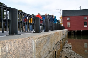 The Mechanic Street seawall was built to blend into the historic aesthetic of the South End community. It can be added to over time.