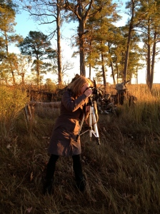 Most photos in this piece are thanks to Whitney Flanagan, Design Manager at The Conservation Fund. Here she is in action.