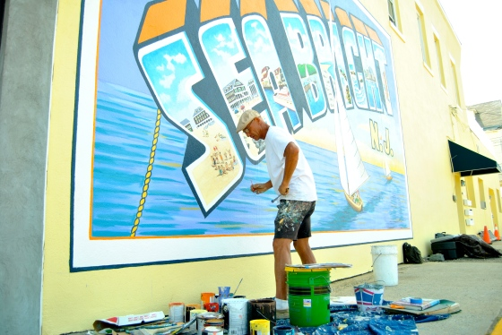 The little things go a long way: a muralist is brightening up Sea Bright's streets